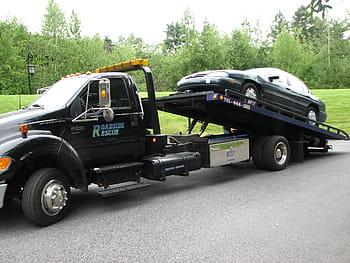 car black tow truck